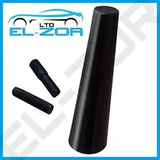 BLACK CAR AERIAL BEE STING MAST ANTENNA ARIEL ARIAL MINI RADIO STUBBY AM FM ROOF