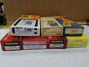 Vintage Lot Of 7 HO Train Kits Needs Assembly