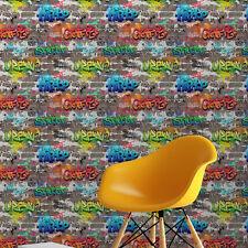 Fine Decor Kids Graffiti Wallpaper Brick Stonewall FD41582