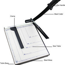 "12"" Heavy Duty Adjustable Guide A4 Durable Paper Cutter Guillotine Without Noise"