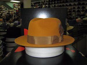 DOBBS SWING GOLD (SUEDE FINISH) FUR FELT FEDORA DRESS HAT