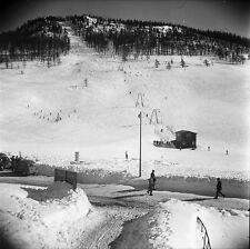 MONTGENÈVRE c. 1947 - Station de Ski  Hautes Alpes - Négatif 6 x 6 - N6 PROV28