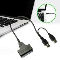 """NEW USB 2.0 to SATA Serial ATA Cable Adapter For 2.5"""" Drive Laptop S HDD N1A6"""