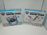Bigmouth Big Snow Tube 5 Feet Enchanted Unicorn or Ice Monster Inflatable Sled