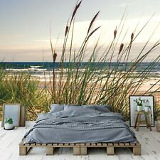 Vlies Fototapete Strand Dünen Meer Nordsee Wohnzimmer Tapete XXL Landschaft 252