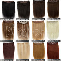 100% Real Human Hair Full Head Clip in Hair Extensions One Piece THICK