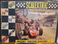 Scalextric Set 90, brillante conjunto completo y gran condición, caja tiene problemas BU