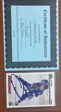 1991/92 Upper Deck Joe Sakic Autographed/Auto/Signed Hockey Card COA