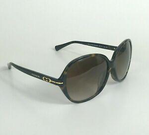 Coach Sunglasses HC8117F L588 Blakely Black Frame Gray Lens Polarized 55x16x135