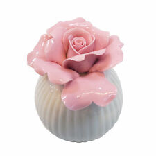 Porcelain Fragrance Diffuser With Pink Rose Flower Head for Home Decoration