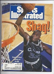 1992 Sports Illustrated Magazine November 30th Shaquille O'Neal Rookie