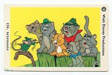 1970s Sweden Swedish Walt Disney Card - The Aristocats with Roquefort the mouse