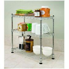 3 Shelf Organizer Steel Wire Cabinet Rack Kitchen Top Bathroom Storage Compact