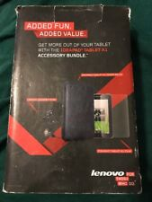 Lenovo A1 IdeaPad Tablet Accessory Bundle- P180 Headphones w Mic- Cover- Film