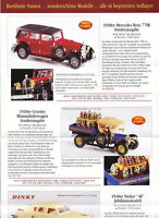 "Matchbox Models of Yesteryear Faltblatt/Propekt 4. ""Exclusiv"" Serie 1997"