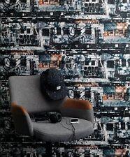 Wallpaper Rasch - Kids & Teens 2 - New York City NYC - Blue - Kids Room - 291308