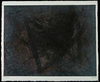 "DDR-Kunst/Informel. ""A 243"" 1989 Unikatdruck Ralf KLEMENT (*1950 D) handsigniert"