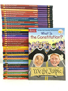 NEW What Was Is Set of 39 Paperback Book American Military Sports History Kids
