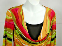 FRANK LYMAN Multi-Color   3/4 Sleeve  Blouse Top Size 6