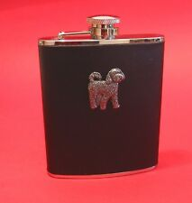 Cockapoo 6oz Leather Hip Flask Boxed Vet Fathers Cockapoo Christmas Gift NEW