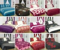 Printed Poly Cotton Duvet Quilt Cover with Pillow Cases Bedding Set All Sizes