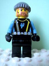 LEGO Minifig aqu017 @@ Aquaraider Diver 3 - Dark Bluish Gray Knit Cap  7775