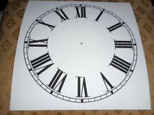 "Square Paper Clock Dial - 9"" M/T - Roman -  White Matt - Face/ Clock Parts"