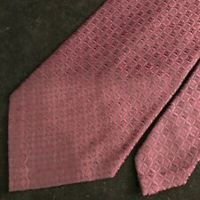 "Burgundy  Men's Tie, 4"" x 60"" ,  Dark Red / Wine/ Geometric"