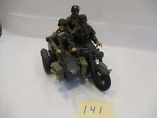 21st Century 1:6 WWII German Motorcycle W/Sidecar 3 Soldiers Excellent Condition