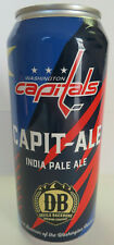 washington CAPITALS devils BACKBONE capit-ALE empty BEER can STADIUM only CAPS!!