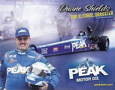 2013 Duane Shields Peak Motor Oil Top Alcohol Dragster NHRA postcard
