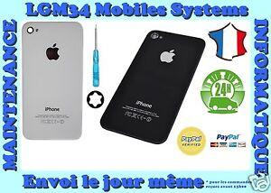 vitre arrière de remplacement iPhone 4/4S noir ou blanc d'origine