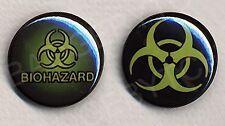 BIOHAZARD pair of badges - COOL!