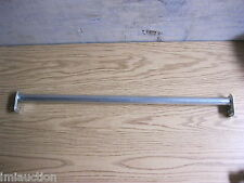 "Adjustable Closet Rod Pole Cloths Hanger 18 - 30"" 1"" Round Silver"