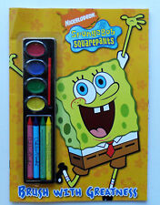 Sponge Bob Square Pants Brush wIth Greatness Color Book, NEW