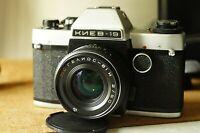 Soviet Camera Kiev-19 small format SLR Camera RUSSIAN Lens МС HELIOS-81H 2/50