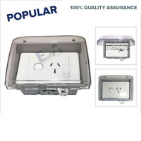 Weather proof 15 AMP GPO Single Power Point + Weatherproof Box Enclosure Outdoor