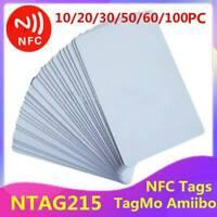 NTAG215 NFC Blank Card Printable PVC Chip Read Write Android TagMo Amiibo