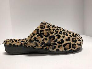 Vionic Indulge Gemma Leopard Slipper Womens Size 10 M