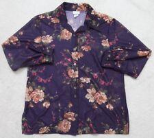 Blaire Boutique Long Sleeve Womens Dress Shirt XL Purple Polyester Woman X-Large