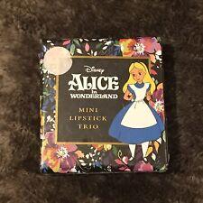 Disney Alice In Wonderland Lipstick Trio. New In Sealed Box