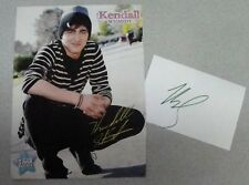 KENDALL SCHMIDT SIGNED INDEX CARD WITH 9x11 PHOTO TIGER BEAT PHOTO