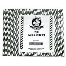 2500xEco-Straw Paper Cocktail Straw, Black/White: Birthday, Wedding, Hen, Party