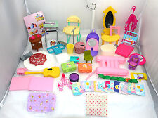 MIXED VINTAGE BARBIE LOT FURNITURES + EXTRAS ACCESSORIES                   BA4