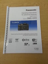 PANASONIC DMC-GH3 FULL USER MANUAL GUIDE INSTRUCTIONS PRINTED 319 PAGES A5