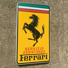 FERRARI SERVIZIO ILLUMINATED LED LIGHT BOX WALL SIGN GARAGE AUTOMOBILIA DINO