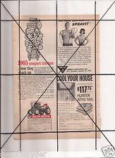 Vintage 1965 Popular Mechanics Magazine Ad A117 Bolens Heathkit Sprayit