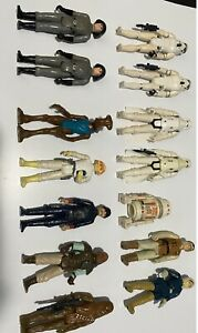 VINTAGE 1977 to 1980 Star Wars Lot Of 14 Action Figures Original Kenner