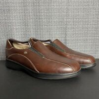 Finn Comfort Mens Size US 7 EU 40 Brown Leather Slip On Loafers Shoes Excellent!