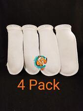 "Four (4) 4"" Filter Socks 4""x12"" Felt 100 Micron sock Aquarium Reef Wet Dry Sump"